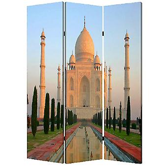 "1"" x 48"" x 72"" Multi Color Wood Canvas Taj Mahal  Screen"