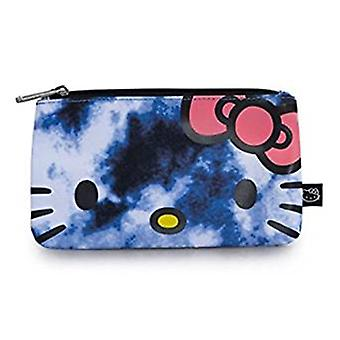 Pencil Case - Hello Kitty - Blue Tie Dyed Stationery Pouch Bag Licensed sancb0641