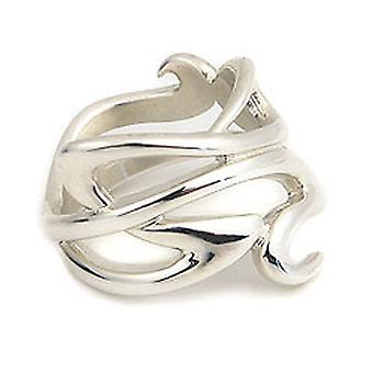 Sterling Silver Traditional Scottish Art Nouveau Eternity Celtic Knotwork Design Ring