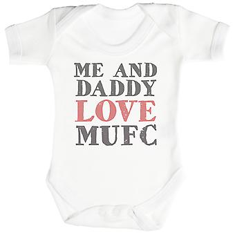 Me & Daddy Text Love MUFC Baby Bodysuit / Babygrow