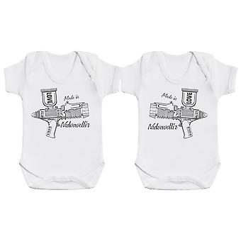 Love Shooter Baby Twins Bodysuit Set