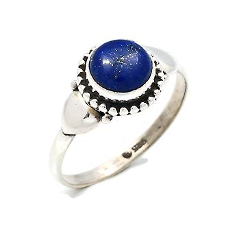 Lapis Lazuli Ring 925 Silver Sterling Silver Silver Women's Ring Blue (IRM 109-06)
