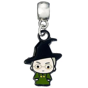 Harry Potter Silver Plated Charm Chibi Professor McGonagall
