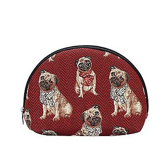 Pug big cosmetic bag by signare tapestry / bgcos-pug