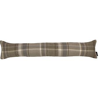 Mcalister textiles heritage tartan beige cream fabric draught excluder
