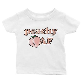 365 painatus Peachy AF vauva graafinen T-paita lahja valkoinen hauska vauva tee paita