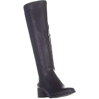 شريط الثالث النساء الجمالون النسيج اللوز اللوز الركبة أحذية الأزياء عالية