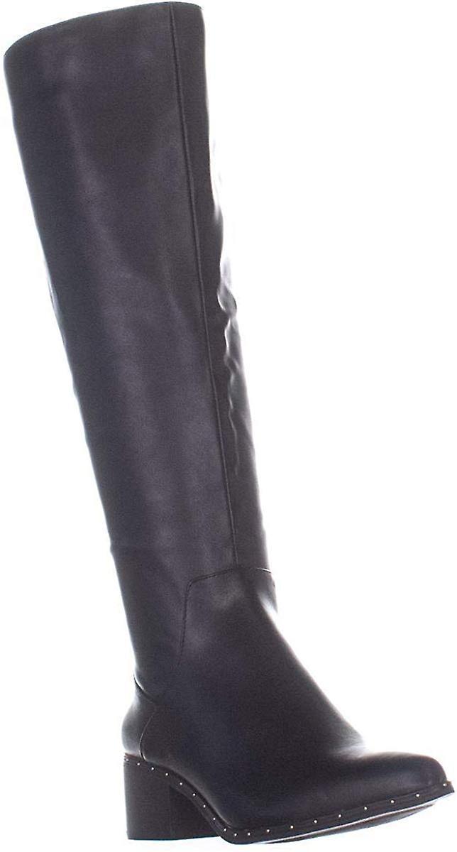 Bar III Damskie szkopuł w tkaninie Almond Toe Knee High Fashion Boots IIFmg