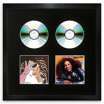 Double CD Frame Oxford Black Memorabilia Wall Album Display with a Black Mount