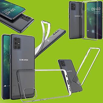 Für Samsung Galaxy A71 A715F Silikoncase TPU Schutz Transparent Tasche Hülle Cover Etui Zubehör Neu