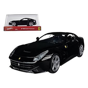 Ferrari F12 Berlinetta Black 1/24 Diecast Car Model par Hotwheels