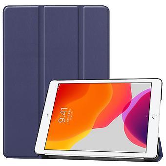 For iPad 10.2 Custer Texture Horizontal Flip Smart PU Leather Case , Smart Flip Cover Dark Blue