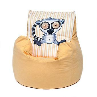 Jaune Lemur Childrens Character Filled Beanbag Kids Bean Bag Chair Bedroom