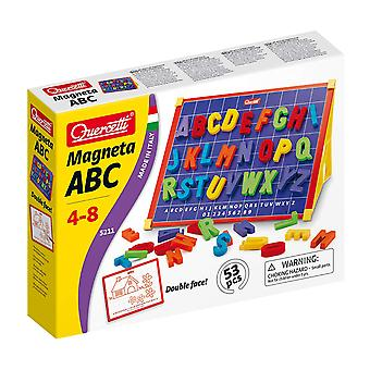 Quercetti Magneta ABC Double Sided Magnetic Board 53PC STEAM Toy Ages 4-8 Years