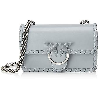 Pinko Mini Love Twist 1 Grey Women's Crossbody Bag (Silver Grey) 4x14x24 cm (W x H x L)