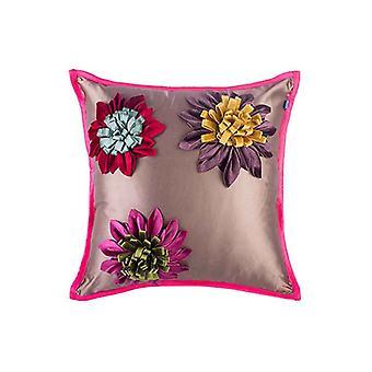 Silkkinen kesä Passion kukat heittää tyynyn päällinen