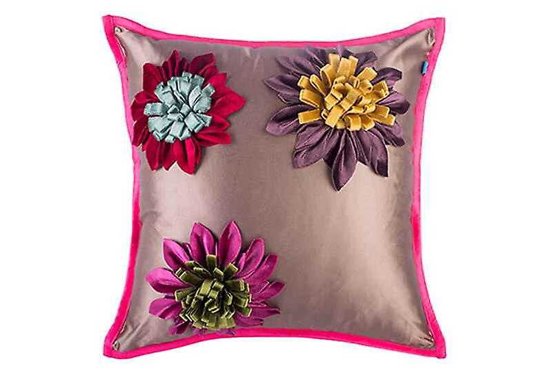 Silky Summer Passion Flowers Throw Pillow Cover