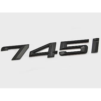 Matt Black BMW 745i Car Model Rear Boot Number Letter Sticker Decal Badge Emblem For 7 Series E38 E65 E66E67 E68 F01 F02 F03 F04 G11 G12