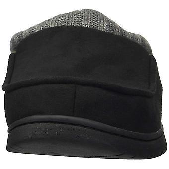 Dearfoams Women's Moc Toe Clog with Rib Knit Collar Slipper