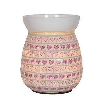 Aroma Valentines Heart Electric Wax Melt Tart Brander Warmer Lilac