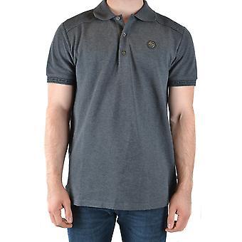 Philipp Plein Ezbc428026 Männer's grau Baumwolle Polo Shirt
