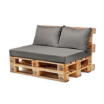 Harmaa selkä tyyny vain vedenpitävä Euro lava puutarha kalusteet ulkona sohva