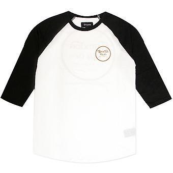Brixton Wheeler 3/4 hiha Baseball t-paita valkoinen oranssi