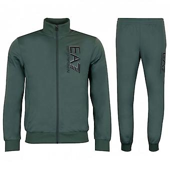 EA7 Emporio Armani Green Zip Up Polyester Tracksuit 3HPV58 PJ08Z