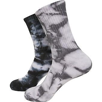 Urban Classics - Tie Dye Batik High Socks Pack of 2