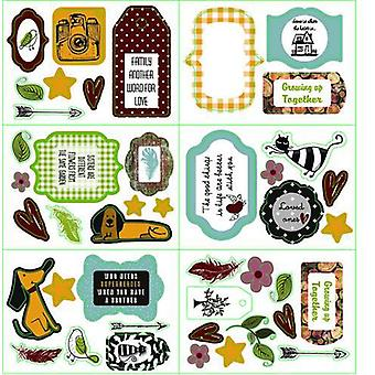 Pronty Paper Die Cuts Labels 6x A6 Family Stories