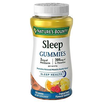 Nature's bounty sleep gummies, topical punch flavored, 60 ea