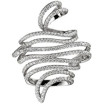Ladies pendant entwined 925 sterling silver with cubic zirconia silver pendant