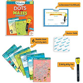Skillmatics Dots and Mazes Activity Pack Educational Write and Wipe Activity