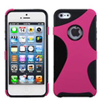 Asmyna Rubberized Cragsman Mixy Case pour Apple iPhone 5s/5 - Hot Pink/Black