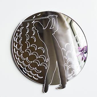 Golfer on Golf Ball Acrylic Mirror