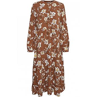 b.young Almond Floral Print Dress