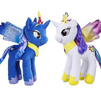 2-Pack Min Lille Pony Celestia & Luna Enhjørning Store Utstoppede Utstoppede Dyr 36cm