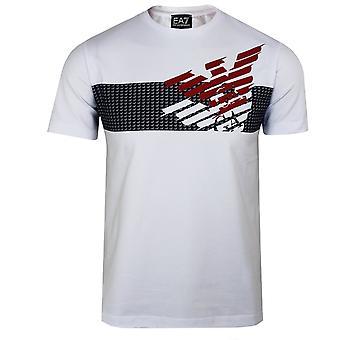 Ea7 エンポリオ アルマーニ メンズ白ロゴ t シャツ