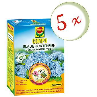 Sparset: 5 x COMPO Blue hydrangeas, 800 g