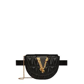 Versace Dv3g984dnatr4k41ot Women's Black Leather Pouch
