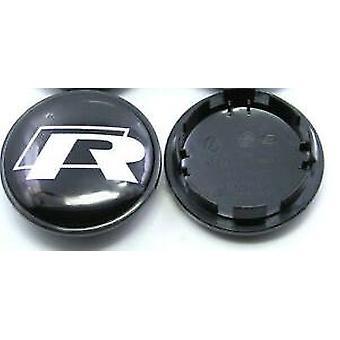 Black/Silver VW Volkswagen Wheel Centre Cap Hub Badge 65mm 1PCS For Golf Jetta Passat Tiguan Beetle CC EOS