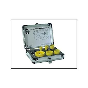 Faithfull Electricians Holesaw Kit 9pc