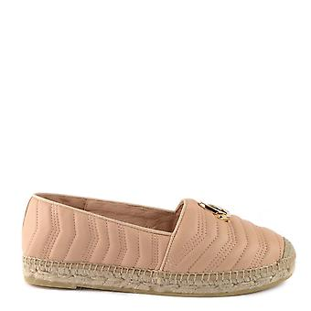 Kanna Sofia Nude Quilted Leather Espadrille