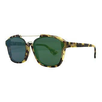 Dior Abstract 00F/9S Spotted Havana/Green Mirror Sunglasses