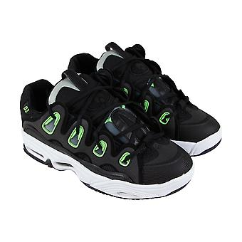 Osiris The D3 2001  Mens Black Mesh Lace Up Athletic Skate Shoes