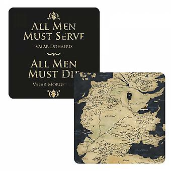 Game Of Thrones Coaster All Men Must Die Westeros Map new Official Lenticular