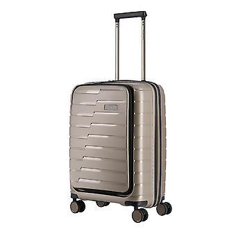 travelite Air Base cabine trolley 55 cm 4 rollen met voorzak, grijs