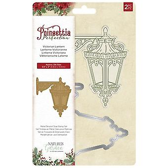 Crafter's Companion Poinsettia Perfection Victorian Lantern Stamp & Die