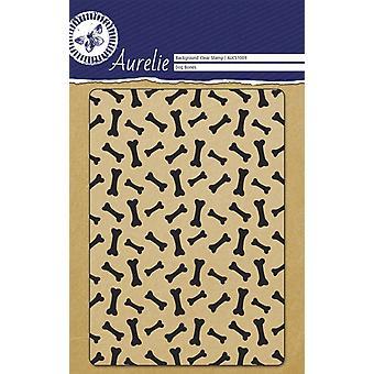 Aurelie psí kosti pozadí jasné razítko