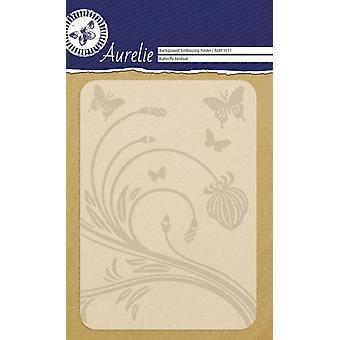 Aurelie Butterfly Festival Background Embossing Folder